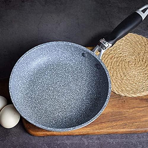 LAMZH Padella Antiaderente Freying Forgiato Forgiato Casseruola in Alluminio Wok Rivestimento in Ceramica Facile Pulito for la fornello a induzione Fornello a Gas Free Invia Spugna