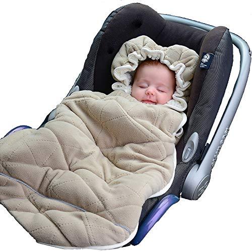 Baby Toddler universel Noir Deluxe Polaire Doublée Hiver Manchon de Pieds Cosy Toes