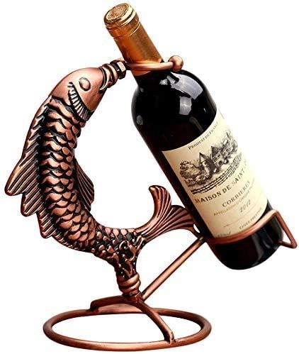 QJL_ANA Cada año Hay pez Rojo Vino Bastidores, Bastidores