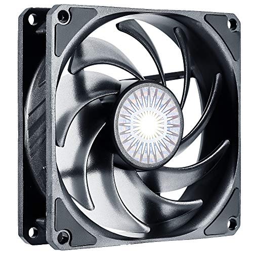Cooler Master SickleFlow 92 - Ventilador de refrigeración (92 mm, Cuchillas mejoradas de Balance de Aire, 40 CFM, 1,8 mmH2O, 6 a 25 dBA), Color Negro