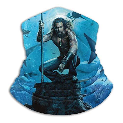 natraj album The Aquaman - Protector de cuello de microfibra para la cara y el gorro negro