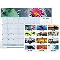 """VisualオーガナイザーパノラマMotivationalデスクパッドカレンダー–Monthly–22"""" x 17""""–1月12月till–1月1ページあたり( S )–ビニールコーナー、用紙"""