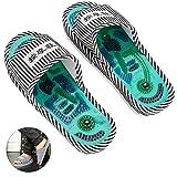 Zapatillas de masaje, masaje de shiatsu con acupresión de pies con piedra magnética, tratamiento de pies saludables, masajeador de bolas para hombres, mujeres(Man)