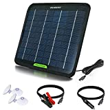 ECO-WORTHY Portable Solar Panel 5W 12V Solar Power, Ttrickle Charger Backup for Automobile Motorhome Boat RV Tractor Batteries