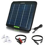 ECO-WORTHY Panele Solare Portátil 5W 12V Energía Solare, Cargador Ttrickle de Respaldo para Automóvil, Autocaravana, Barco, RV, Tractor Baterías