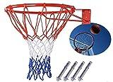 SHENGHUAJIE Canasta de Baloncesto con aro de Red, Canasta Colgante para Exteriores, 18 '', 45 cm