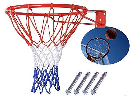 JIUZHOUTONG Canasta de Baloncesto con aro de Red, Canasta Colgante para Exteriores, 18 '', 45 cm