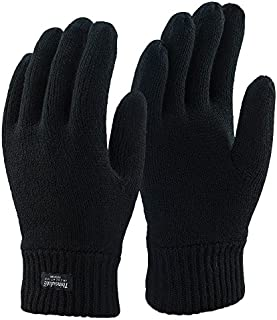 Thinsulate - Mens 3M 40 gram Black Thermal Insulated Lined Warm Winter Gloves