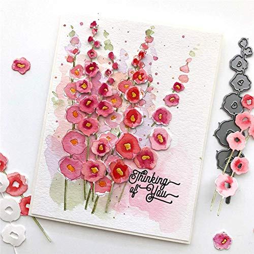 Metall-Stanzschablonen, Blume, DIY, Scrapbooking, Papierkarten, Album, Kunst, Foto, Schablone – Silber