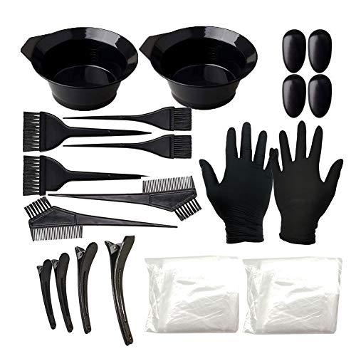 XQxiqi689sy Lot de 22 pinceaux, peignes, gants, pinces