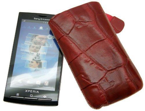 Suncase - Funda de cuero especial para Sony Ericsson Xperia X10 con...