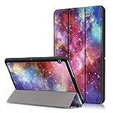Xuanbeier Huawei MediaPad T3 10 Hülle Hülle-Ultra Dünn & Leicht PU Leder Schutzhülle Cover für Huawei MediaPad T3 10(9,6 Zoll) (Z-Galaxy)