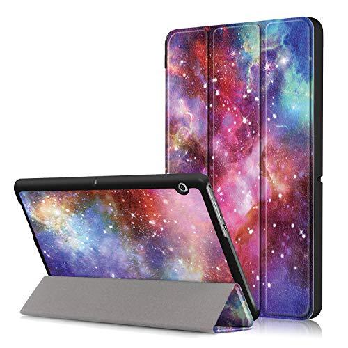 Xuanbeier Ultra Sottile Custodia e leggera PU Case Cover per HUAWEI Mediapad T3 10 Tablet 9.6 pollice Modello 2017,Galaxy