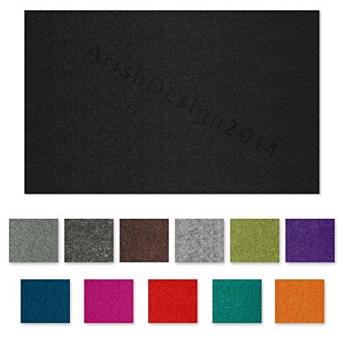 SIMON PIKE echter Filz in smaragd aus 100% reinem Wollfilz, Filzplatte zum nähen 34 cm x 23 cm (2mm dick) aus Filzwolle ideal als Bastelfilz oder Taschenfilz