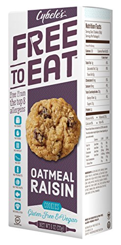 Cybele's Free to Eat Cookies, Oatmeal Raisin, 6 Ounce (Pack of 6)