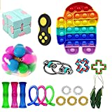 Sensory Fidget Toys Set, Anti-Anxiety and Relief Stress Toys for Kids Adults and ADHD, Push pop pop Bubble Squeeze Toys Puzzle Balls for Birthday Party Favors Best Gifts