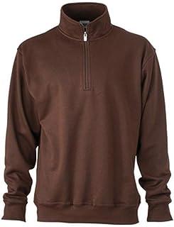 James and Nicholson Unisex Workwear Half Zip Sweatshirt