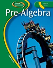 Pre-Algebra, California Ediiton (Glencoe Mathematics)