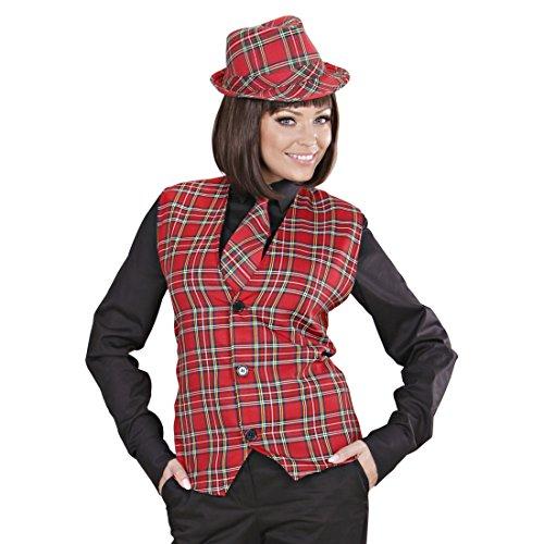 Amakando Kostüm Schotte Herren Weste kariert XL 54 Schotten Trachtenweste Karo Herrenweste Karoweste Schottenkostüm Schottenweste