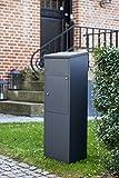 Allux 600 AN F54617 Briefkasten groß XXL 1050 x 380 x 230 mm Anthrazit - 2