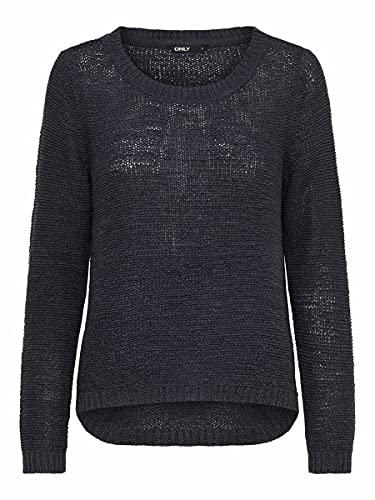 ONLY Onlgeena Xo L/s Pullover Knt Noos, Felpa Donna, Blu (Navy Blazer), 40 (Taglia Produttore: Large)