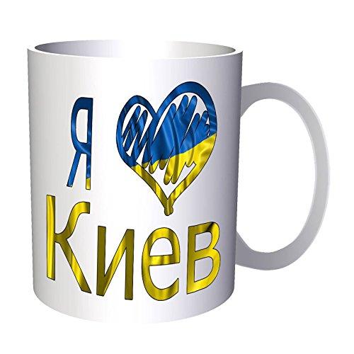 INNOGLEN Ich Liebe Kiew Ukraine Flagge 33 cl Tasse u301