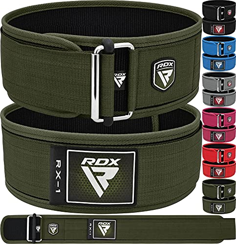 """RDX Gimnasio Cinturón 4"""" Soporte Lumbar autobloqueante para la Espalda Cinturón Musculacion Peso Entrenamiento Cinturones Pesas Levantamiento Halterofilia Powerlifting Equipo de Gimnasio en casa"""