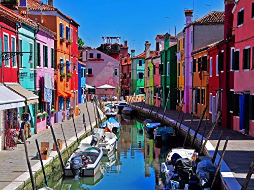 Venice Italy City Cityscape Poster Print - 18 × 24 Canvas Posters