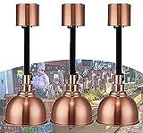 MARHD Lámpara De Calor De Alimentos, Lámpara De Calentamiento De Alimentos De Restaurante Buffet Comercial para Bistec De Pizza, Lámpara Colgante Independiente, 3 Piezas