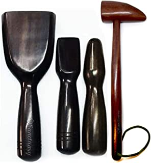 Tok Sen Hammer Set, Percussion Stick, Wooden Massager Tool Deep Tissue Therapy Toksen Massage Trigger Point Back Muscle Foot Strike Wedge Stamp Percuss Wood Thai