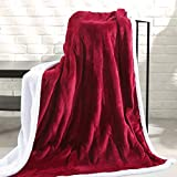 "MaxKare Electric Heated Throw Blanket 50"" x 60"" with Auto Shut Off Fast-Heating"