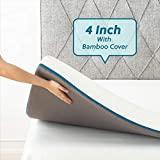 Bedsure 4 Inch Memory Foam Mattress Topper Queen S-Curve Ergonomic High Density Bed Topper for...