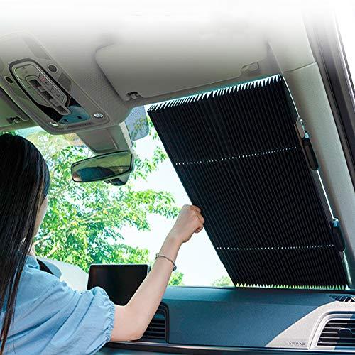 Parabrisas de automóviles de la sombrilla y el acordeón de tipo retráctil, Parasol mantener fresco el vehículo y fácil de instalar (varios tamaños),65cm
