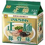 マルちゃん マルちゃん正麺 豚骨味 5食パック(88gX5P) ×6個