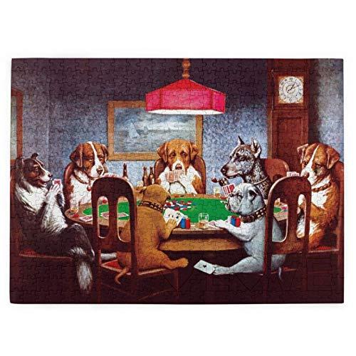 Perros Jugando Poker Rompecabezas Infantil, Rompecabezas de 1000 piezas, adecuado para el desarrollo intelectual de los niños