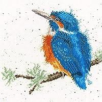 刺繍キット大人用プリント済みクロスステッチキットバードオンブランチ11CT刺繍写真DIYアート初心者用クロスステッチキット子供用ユニークギフトホームデコレーション、40x50cm
