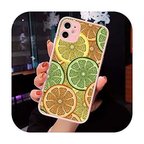 Cartone animato frutta limone moda carino speciale cassa del telefono rosa opaco trasparente per iPhone 7 8 x xs xr 11 12 pro plus max mini Clear-a7-iPhone11pro