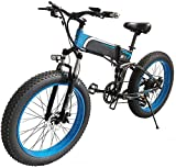 Bicicletas Eléctricas, Bicicleta eléctrica plegable ciclomotor 20 ★ 4,0 pulgadas Playa Nieve Fat Tire bicicletas de montaña Fat Tire E-bici 1000w de bicicletas de montaña borde ancho eléctrico 48v 10A