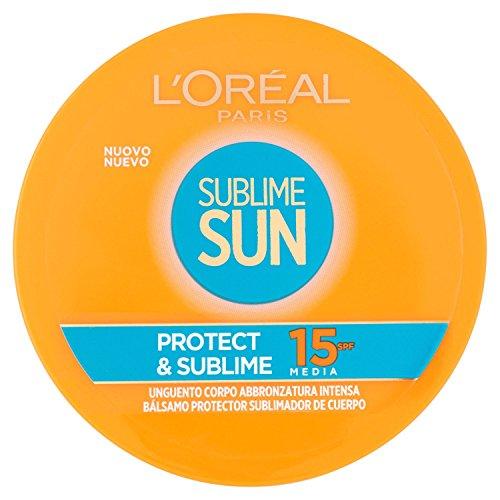 L'Oréal Paris Sublime Sun Protect & Sublime Protection solaire, Corps bronzage intense IP 15, 100 ml