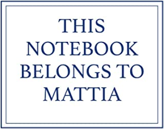 This Notebook Belongs to Mattia