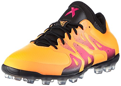 adidas Herren X 15.1 AG Fußballschuhe, Orange (Solar Gold/Core Black/Shock Pink), 46 2/3 EU