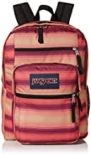 JanSport Big Student Backpack - Sustainable 15-inch Laptop School Bag, Sunset Stripe