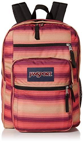 JanSport Big Student Backpack  Sustainable 15inch Laptop School Bag Sunset Stripe