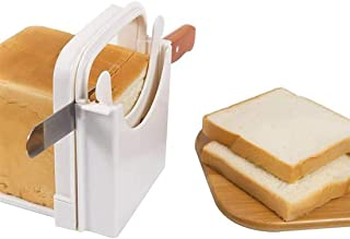 Trancheur de pain de pain grillé de ménage pratique, pain pliable et réglable, trancheuse de bagels pour ajuster l'épaisse...