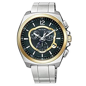 Paul Smith ポールスミス 電波ソーラー 腕時計 クロノグラフ メンズ メタルバンド ファイナルアイズ 【並行輸入品】
