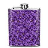 Lavendel Blumenmuster Mode tragbare Edelstahl Flachmann Whisky Flasche für Männer...