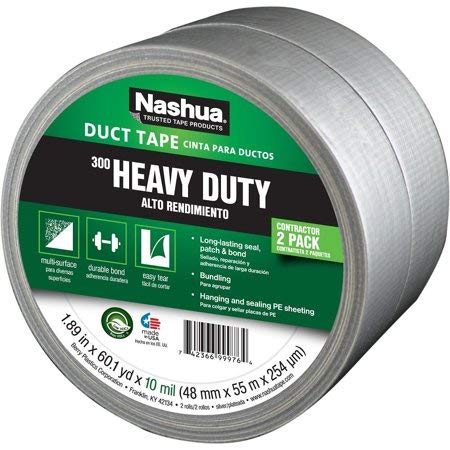 Nashua - Cinta adhesiva (48 mm x 55 m x 304 µm, grado industrial, 2 unidades)