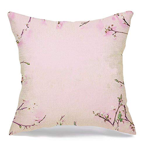 Throw Pillow Covers Blog Holiday Blooming Floral Frame Surprise Decoration Spring Flowers Isolated On Textures Glamour 18 x 18 Inch