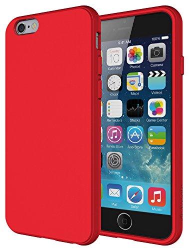 Diztronic Full Matte TPU Custodia per iPhone 6/6s, Rosso