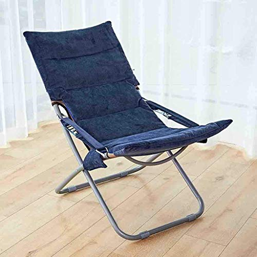 NBVCX Furniture Decoration Folding Chairs Thick Velvet Folding Lunch Break Chair Iron Alloy Adjustable Beach Sun Lounger Home Balcony Winter and Summer Dual Use Pregnant Women Chair (Color : G)
